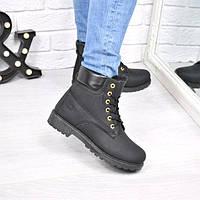 389c4f07b5b0 Ботинки женские Timber молния черные Зима 3810, ботинки женские