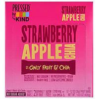KIND Bars, Pressed by KIND, Strawberry Apple Chia , 12 Fruit Bars, 1.2 oz (35 g) Each