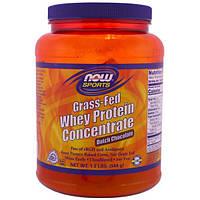 Now Foods, Концентрат сывороточного протеина белка животного на травяном откорме, голландский шоколад, 1.2 фунта (544 г)
