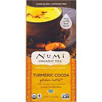 Numi Tea, Organic, какао из куркумы, золотой латте, без кофеина, 2.12 унции (60 г)