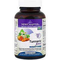 New Chapter, Куркумин Turmeric Force ночной, 60 вегетарианских капсул