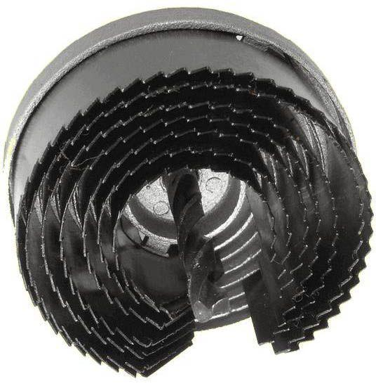 Набор корончатых сверл по гипсокартону составной, 26-63мм, 7 размеров, высота 20мм HTools, 60K021