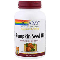 Solaray, Масло тыквенных семечек, 1000 мг, 90 капсул