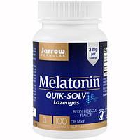 Jarrow Formulas, Быстрорастворимые пастилки с мелатонином, вкус ягод и гибискуса, 3 мг, 100 пастилок