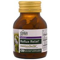 Gaia Herbs, Средство для облегчения рефлюкса, 45 быстрорастворимых жевательных таблеток