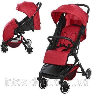 Прогулочная коляска Bambi с регулировкой спинки (M 3549-3) Красная