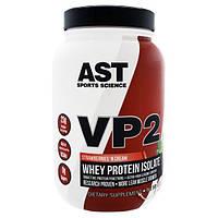 AST Sports Science, VP2, изолят сывороточного белка, клубника и сливки, 1,99 фунта (902,4 г)