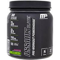 MusclePharm, Assault Black, энергетическое средство для приема перед тренировкой, арбуз, 12,91 унций (366 г)