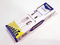 Зарядное устройство сетевое 2.1A 2х micro-USB Inkax CD-01-micro (адаптер+кабель)