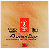 Caveman Foods, Primal Bar, Chicken with Smoked Jalapeno, 12 Bars, 1.5 oz (42 g) Each