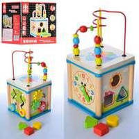Детский деревянный сортер / Универсальный куб - сортер
