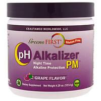 Greens First, PH Alkalizer PM, виноград, 121,8 г (4,29 унции)