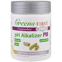 Greens First, подщелачивающий агент pH Pro PM, 90 капсул