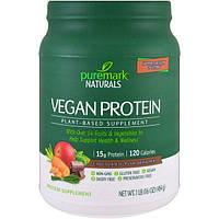 PureMark Naturals, Веганский протеин, растительная добавка, питьевая смесь с шоколадный вкусом, 16 унций (454 г)