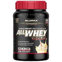ALLMAX Nutrition, AllWhey Gold, 100% сывороточный белок + первосортный белковый изолят, со вкусом торта ко дню рождения, 907 г (2 фунта)