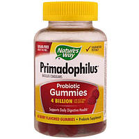 Nature's Way, Primadophilus Probiotic Gummies, Berry, 60 Berry Flavored Gummies