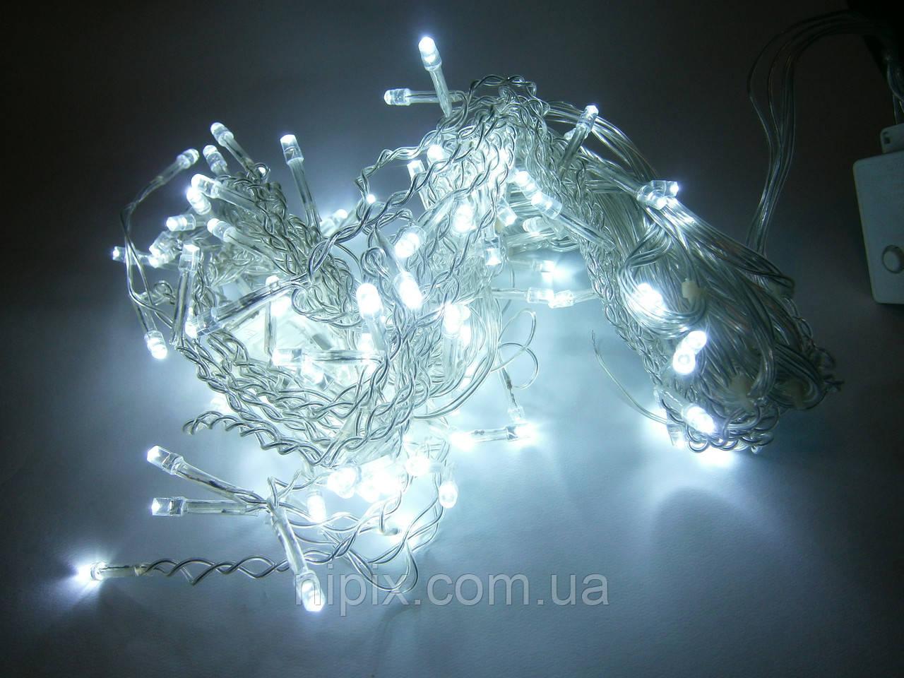 Гирлянда светодиодная бахрома 120 LED белая