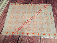 Силиконовый коврик-трафарет для выпечки, размер 30*40см