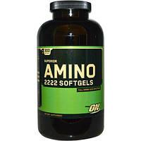 Optimum Nutrition, Мягкие капсулы Superior Amino 2222, 300 мягких капсул