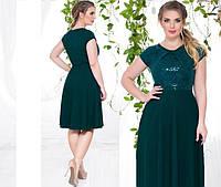 Платье (48-50, 52-54) —крептрикотаж купить оптом и в розницу в одессе  7км
