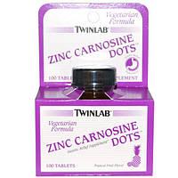Twinlab, Zinc Carnosine Dots, Tropical Fruit Flavor, 100 Tablets