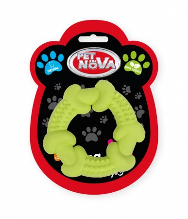 Іграшка для собак Кільце спеціальне Pet Nova 10.5 см жовте