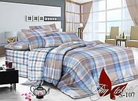 Комплект постельного белья с компаньоном S-107 евро (TAG satin (evro)-107)