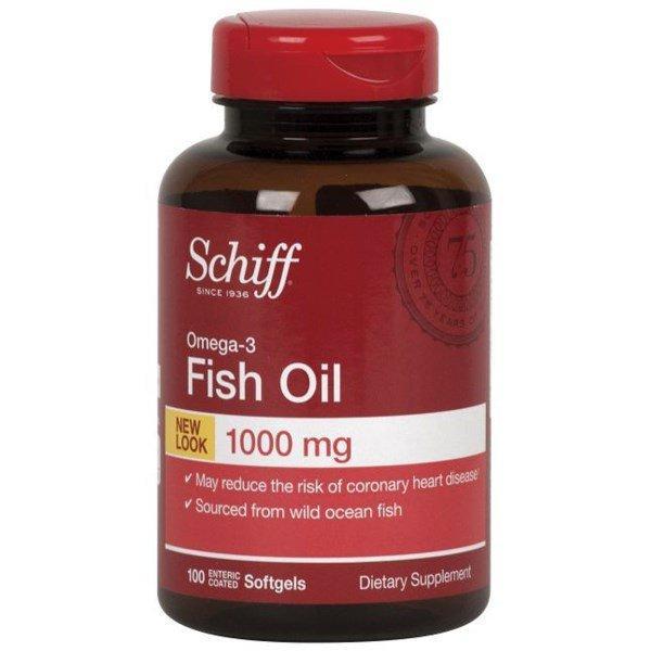 Schiff, Fish Oil, Omega-3 , 1000 mg, 100 Enteric Coated Softgels