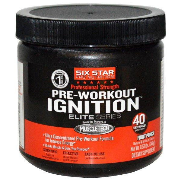 Muscletech, Six Star Pro Nutrition, Pre-Workout Ignition, Elite Series, Fruit Punch, 0.53 lbs (240 g)