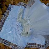 Хрестильний комплект для дівчинки Дарина, фото 2