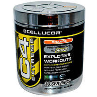 Cellucor, C4 Extreme, добавка с NO3 перед тренировками, апельсиновый вкус, 156 г