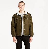 Зимняя куртка Levis Trucker Sherpa - Forager Green Nylon