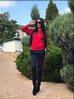 """Женский трикотажный костюм со штанами """"Vogue"""" (красный/черный) Love KAN"""