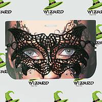 Кружевная маска Секрет Кошки черная