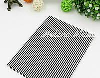 Отрез ситца для рукоделия в черно-белую полоску 2мм