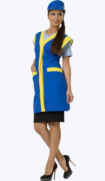 Синий комплект с желтыми вставками для продавцов и промоутеров под заказ