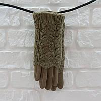 Перчатки из шерсти серый