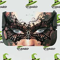 Кружевная маска Секрет Летучей мыши черная