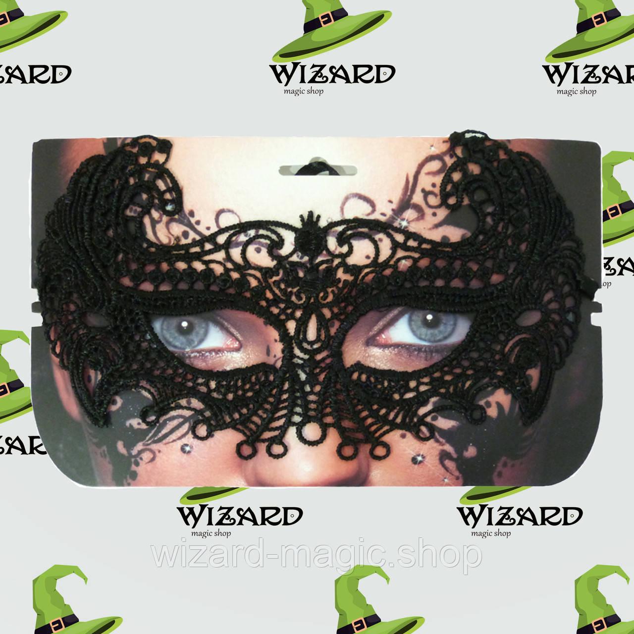 Кружевная маска Секрет Птицы черная