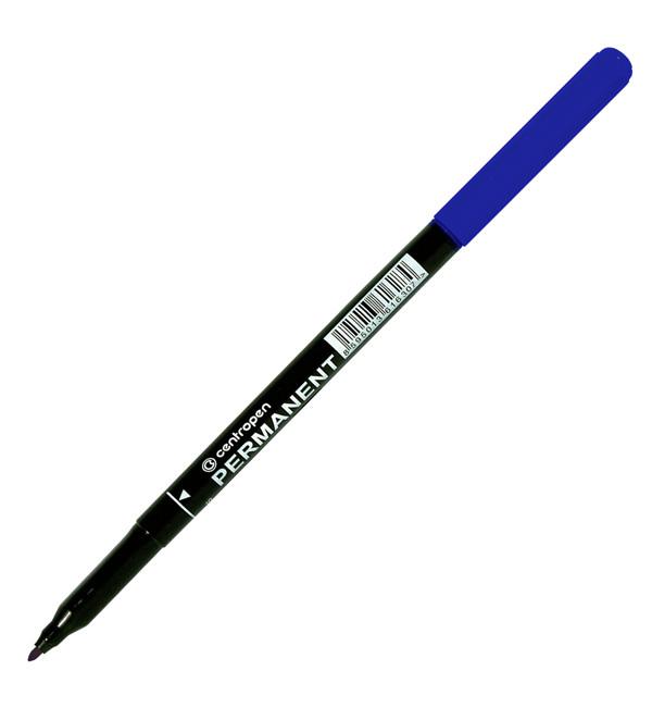 Маркер перманентный Centropen 2536, 1 мм, синий