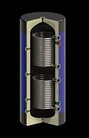 Емкость буферная Werden Classik УНВ нст 1000 л с утеплителем и двумя  теплооменниками из нержавеющей стали