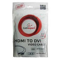 Кабель  Gembird HDMI-DVI-6 (18+1)  1.8m