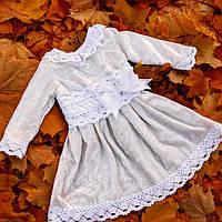 Теплое платье для крещения девочки .Эксклюзив