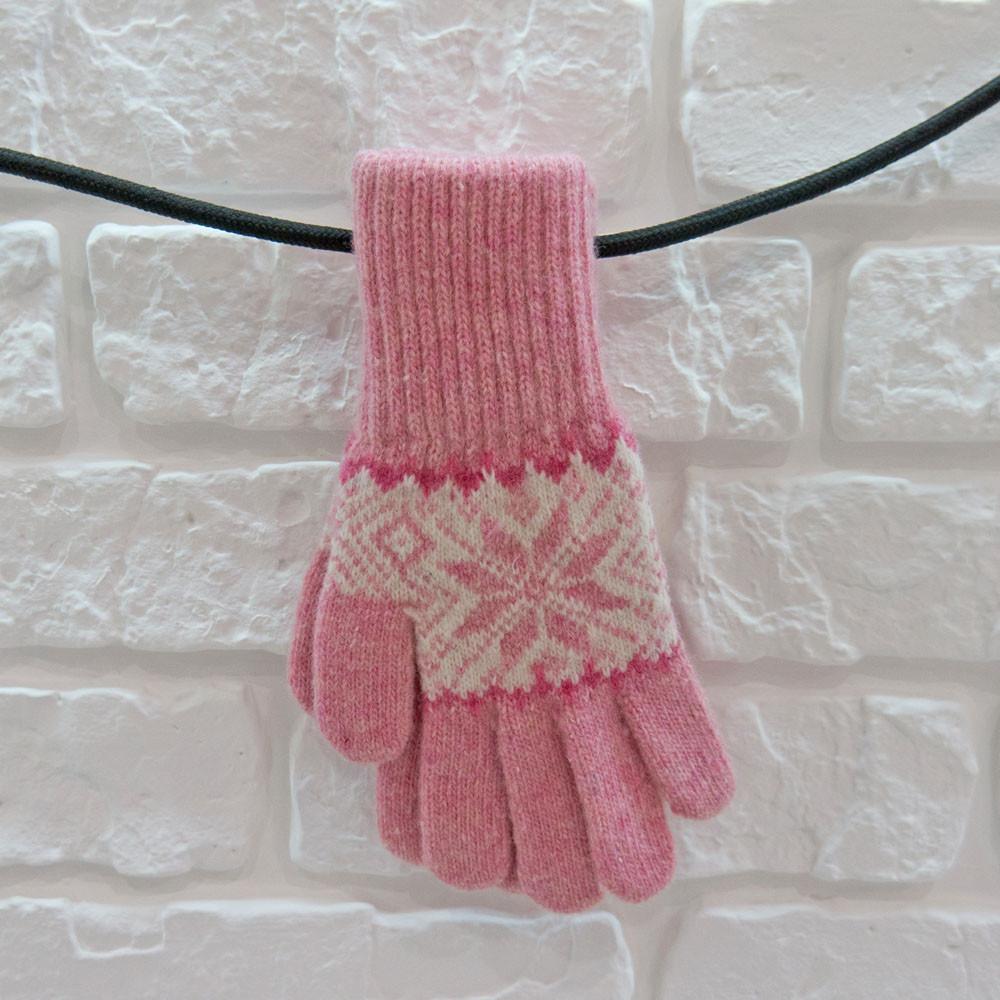 Перчатки из шерсти розовый