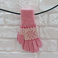 Перчатки из шерсти розовый, фото 1