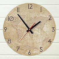 """Часы настенные - """"Старый глобус"""" (на пластике)"""
