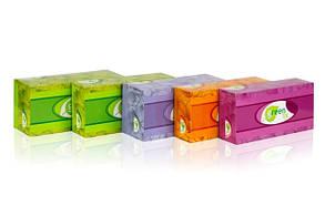 Салфетки в коробке двухслойные в картонній упаковці 150 шт., Двошарові білі. 100% целюлоза.