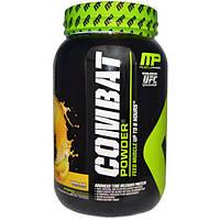 MusclePharm, Combat Powder, белок с разным временем высвобождения, со вкусом бананового крема, 2 фунта (907 г)