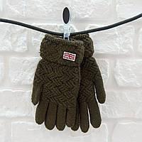 Перчатки из шерсти хакки