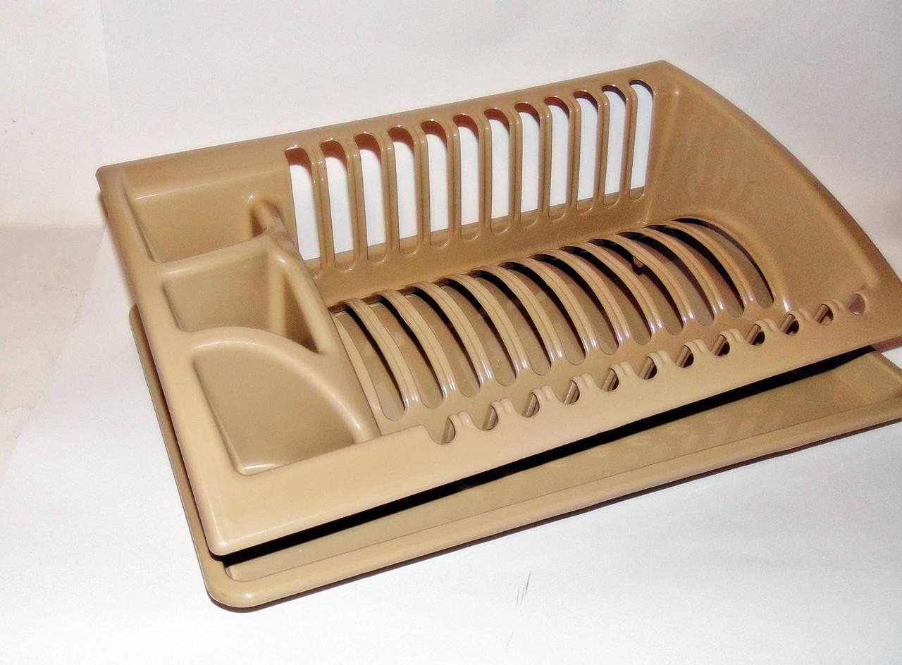 Сушарка для посуду одноярусна пластикова